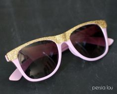 Add some sparkle to your life with these glitter sunnies. | Community Post: 16 DIY Sunglasses You'll Actually Want To Wear This Summer