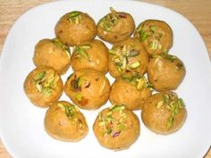 Besan ladoos are a rich, sweet dessert-snack made from gently roasted besan. Ladoos can be served any time of the day. Traditionally in Indian households ladoos and burfis are served as cookies and chocolate candies are served elsewhere.