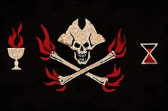 Piratenflagge Blackbeard