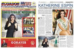 Katherine Espin meets Consul General of Ecuador, appears in New York newspapers