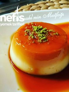 How to Make Cream Caramel Recipe? Illustrated explanation of the Cream Caramel Recipe in the book of Creme Caramel, Desert Recipes, Flan, Rice Recipes, Coffee Shop, Panna Cotta, Food And Drink, Yummy Food, Delicious Recipes