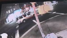 Thirteen injured after Mercedes jumps curb in Brooklyn -  The Mercedes turned on to the sidewalk suddenly on Friday night at 8.44pm  Four pedestrians were hurt in the crash including one who was 'in the gutter'  Another was lying in the street 'screaming' with his 'leg behind his head'  Another car turning behind the Mercedes from the other side of the road crashed  Two are in critical condition and another six required hospital treatment  The Mercedes driver got out of his car after the…