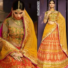 Magic of #yellow and #orange!  #FloralMotif #Volume #Layers #Embroidery #Designer #Brown #Occasion #IndianDresses #Partywears #Indian #Women #Bridalwear #Fashion #Fashionista #OnlineShopping #Pakistanisuits #Brown #Pink #MirrorWork