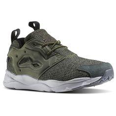 99e8c14682fac Reebok Furylite GW Men s Retro Running Shoes in Canopy Green   Dark Sage    Steel   Black   Alloy