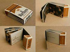 Mini album de fotos con una cajetilla de cigarros para tu pareja.