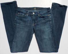 7 FOR ALL MANKIND Straight Dark Wash Jeans Size 27 32 Inseam #7ForAllMankind #Straight