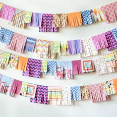 An easy to make garland using party napkins!