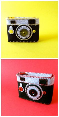A couple of #felt #camera cases that look like cameras <3 I never get tired of these :)