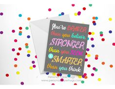 Encouragement Card - Inspirational Card - Motivational card - Get well card - Thinking of you card - You got this card by PersonalPaperHugs on Etsy