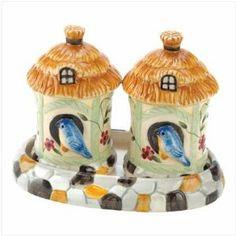 Bird House Salt & Pepper Shakers Set