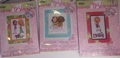 Bucilla So Girly Hottie Great Minds Girl Talk Humor Cross Stitch KITs Lot of 3 #Bucilla