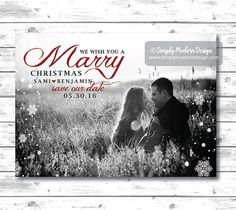 Hey, I found this really awesome Etsy listing at https://www.etsy.com/listing/206879107/save-the-date-christmas-card-marry