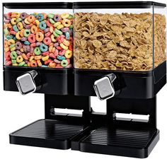 Save space in your culinary area with the Honey-Can-Do Compact Edition Double Dispenser. Perfect for cereal, oatmeal, granola and nuts, this handy dispenser offers portion control and dispenses one ounce of food with each twist. Kitchen Dining, Kitchen Decor, Buy Kitchen, Kitchen Ideas, Kitchen Stuff, Copper Kitchen, Kitchen Pantry, Kitchen Inspiration, Kitchen Designs