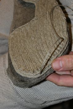 How I retread my rope sole shoes