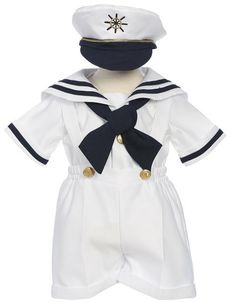 White Sailor Short Suit