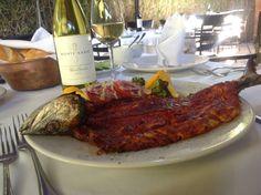 Pescado Sierra en Adobo de Chiles Secos Steak, Food, Lent, Food Items, Essen, Steaks, Meals, Yemek, Eten