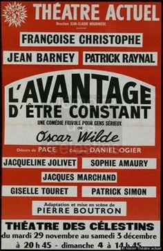 L'avantage d'être Constant - Théâtre des Célestins - Lyon - 1983