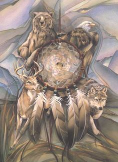 Jody Bergsma Originals | Dream Catcher Wildlife Matted 5x7 Art Card J Bergsma | eBay