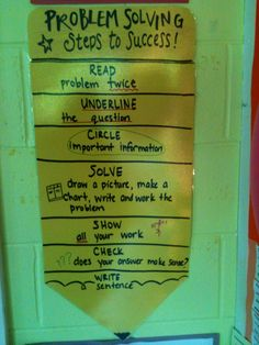 Math Problem Solving Steps to Success!