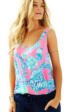 Lilly Pulitzer Cosmos Sleeveles Top