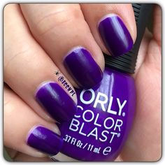 Two coats and no top coat of Orly's Uninvited Guest. #Orly #nailpolish #swatches #nails.  Instagram: accnpl