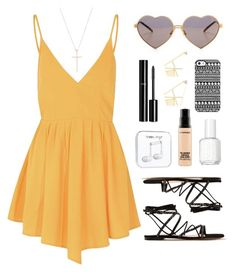"""""""Summer"""" by aurorabvik ❤ liked on Polyvore featuring Glamorous, Tiffany & Co., Gianvito Rossi, Wildfox, Essie, Happy Plugs, Chanel, MAC Cosmetics, Giuseppe Zanotti and Summer"""