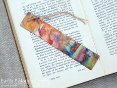 Flamed Fire Painted Copper Bookmark - Vibrant metallic tones of fire painted metal natural design. The perfect gift idea by Earth Balance Craft.