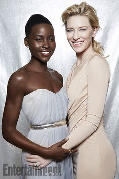 Lupita Nyong'o covers Entertainment Weekly's Oscar 2014 Issue with Cate Blanchett