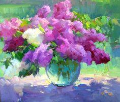 Fresh Cut Lilacs by Ovanes Berberian