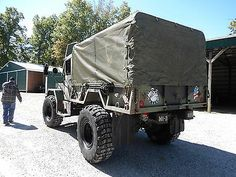 1971 AM General M35A2 bobbed 2.5 ton truck with cargo cover and lots ...