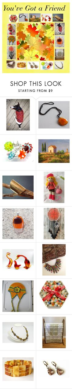 """""""You've Got a Friend: Handmade & Vintage Gift Ideas"""" by paulinemcewen ❤ liked on Polyvore featuring Alfredo Barbini and vintage"""