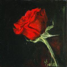 """Résultat de recherche d'images pour """"petite rose rouge peinture huile"""""""
