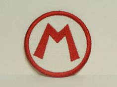 Mario or Luigi -Letter Patch- Circle Embroidered Applique Patch Iron on Sew on DIY-100328 on Etsy, $12.00