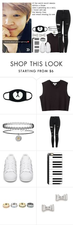 """""""Snapchatting Jimin"""" by cmarnoldrr ❤ liked on Polyvore featuring Nomia, Topshop, adidas Originals, Casetify and Marc by Marc Jacobs"""