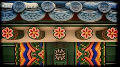 Korean Temple Roof Detail.