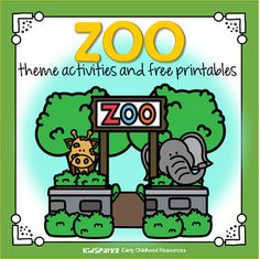 Zoo animals theme activities, printables, and centers for preschool, pre-K, daycares and Kindergarten. Preschool Zoo Theme, Free Preschool, Preschool Classroom, Preschool Curriculum, Toddler Preschool, Classroom Decor, Toddler Class, Preschool Bible, Preschool Learning