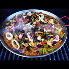 Paella made on my grill :)