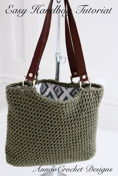 Easy To Make Crochet Handbag Video Tutorial By AnnooCrochet Designs