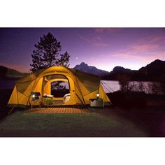 This is the same coleman tent we got last year - LOVE IT! Interior LED lights, 3 rooms, sleeps 10:)