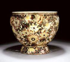 Zsolnay Reticulated Floral Jardinière Vases, Tile Art, Pottery Art, Art Nouveau, Objects, Vintage Stuff, Landscape, Floral, Home Decor