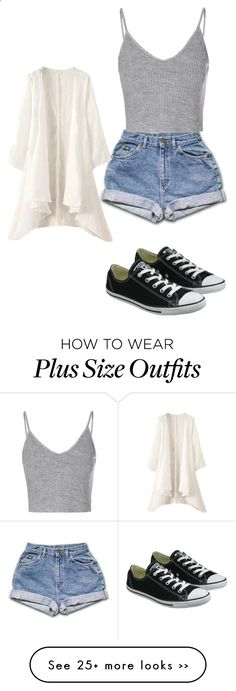 Untitled #225 by stylesqueen10 on Polyvore featuring Glamorous and Converse