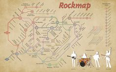 O mapa do Rock  datavis:    Rockmap 1.2 (via boite-en-valise)