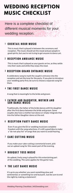 The PERFECT Wedding Reception Playlist for Your Wedding Pinterest