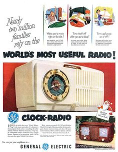 General Electric Clock Radio - 19511105 Life on Flickr. Website | Flickr | Tumblr | Twitter