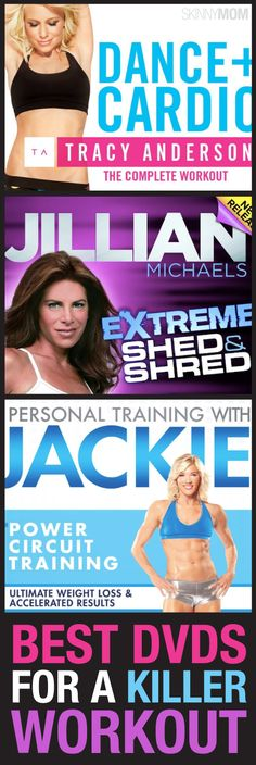 These DVDs are great for working out at home.