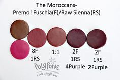 Fuchsia and Raw Sienna