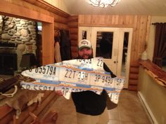 Happy customer w/ a Montana license plate trout. Rainbow plates.