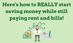 How to REALLY start saving money while still paying rent and bills via @janesheeba