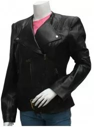 Black Biker Style Fashion Hayden Panettiere Leather Jacket