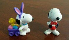 Peanuts Snoopy Woodstock PVC FIGURES cake topper lot 2